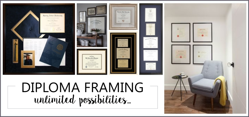 Diploma Framing...unlimited possibilities