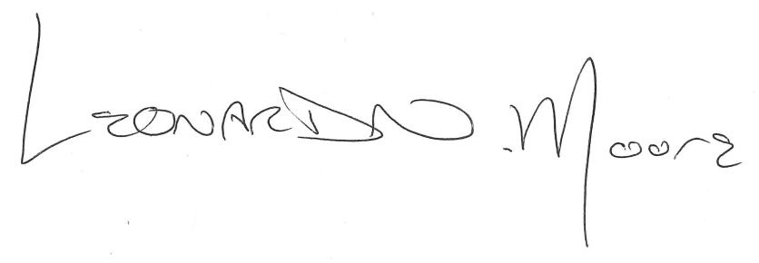 Leonard Moore signature