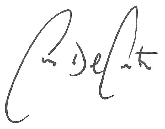 Chris Del Conte signature