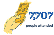 7,707 people attended