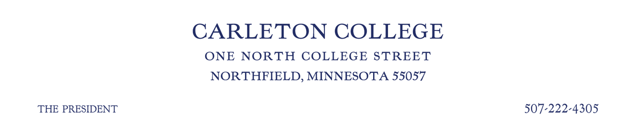 Carleton College Office of the President