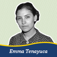 A cut out of a photo of Emme Tenayuca