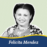 A cut out of a photo of Felicita Mendez