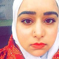 A selfie of Meryem Kamil