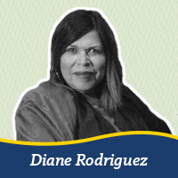 A cutout of a photo of Diane Rodriguez